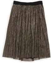 Little Marc Jacobs Pleated Metallic Skirt