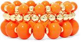 JCPenney MIXIT Mixit Orange Bead 3-pc. Stretch Bracelet Set