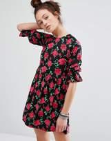Motel Smock Dress In Floral Print