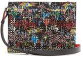 Christian Louboutin Skypouch spike-embellished leather pouch