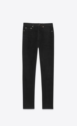 Saint Laurent Slim Fit Jeans Slim Jeans In Worn-look Black Denim Worn Black 26
