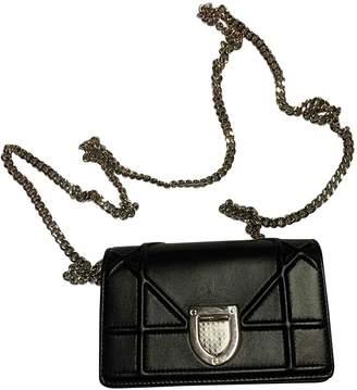 Christian Dior Diorama Black Leather Clutch bags