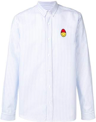 Ami Paris Button-down Shirt Smiley Patch