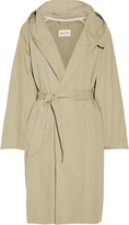 Etoile Isabel Marant Marley cotton and linen-blend hooded coat