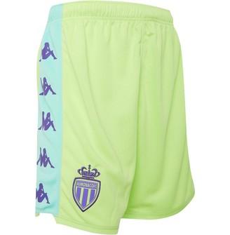 Kappa Mens AS Monaco Kombat Ryder Goalkeeper Home Shorts Green