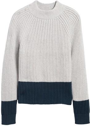 Banana Republic Chunky Color-Block Sweater