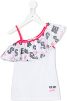 MSGM ruffled Barbie tank top - kids - Polyamide/Spandex/Elastane - 6 yrs