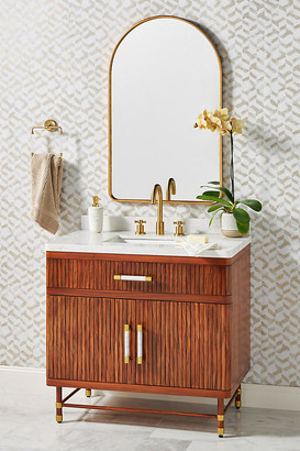 Anthropologie Deluxe Tamboured Single Bathroom Vanity By in Brown Size ALL
