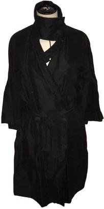 Rue Du Mail Black Linen Coat for Women