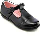 Jelly Beans Black Bald T-Strap Shoes