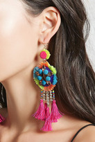 Forever 21 FOREVER 21+ Neon Tassel Drop Earrings
