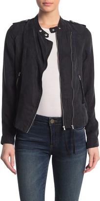 Blanknyc Denim Dual Zip Soft Twill Jacket