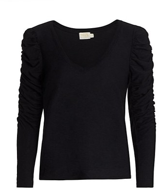 Nation Ltd. Kristen Slim-Fit Ruched Long-Sleeve T-Shirt