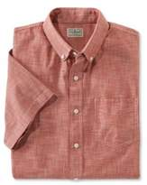 L.L. Bean L.L.Bean Easy-Care Chambray Shirt, Traditional Fit Short-Sleeve