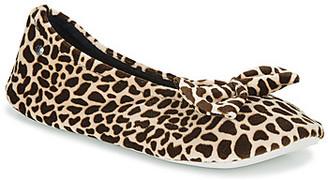 Isotoner 95991 women's Flip flops in Brown