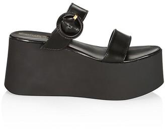 Gianvito Rossi Leather Platform Mules