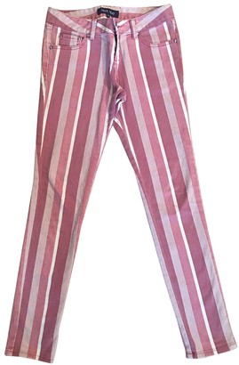 April May Pink Cotton Trousers for Women