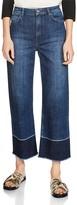 Maje Palmina Cropped Wide-Leg Jeans in Blue
