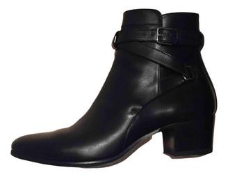Saint Laurent West Jodhpur Black Leather Ankle boots