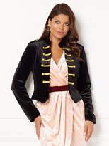 New York & Co. Eva Mendes Collection - Krysta Velvet Military Jacket - Petite