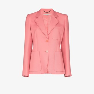 Stella McCartney Single-Breasted Patch Pocket Blazer