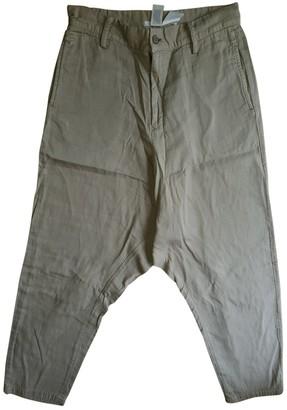 Limi Feu Beige Cotton Trousers for Women