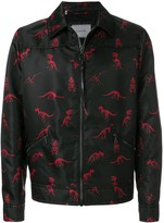 Lanvin dinosaur skeleton print jacket