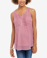 Motherhood Maternity Dot-Print Sleeveless Top