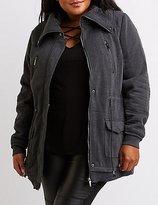 Charlotte Russe Plus Size Knit Anorak Jacket