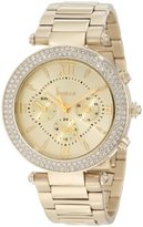 Freelook Women's HA1539GM-9 Champagne Chronograph Dial And Swarovski Bezel Watch