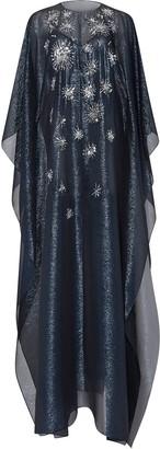 Oscar de la Renta Star Sequinned Caftan Gown