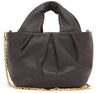 STAUD Lera Chain-strap Leather Top Handle Bag - Womens - Black