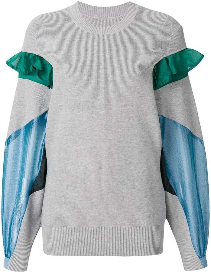 Sacai ruffle-trimmed jumper