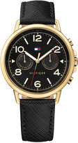 Tommy Hilfiger Women's Casual Sport Black Leather Strap Watch 38mm 1781735