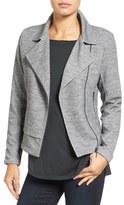 Halogen Texture Knit Moto Jacket (Regular & Petite)