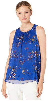 Vince Camuto Sleeveless Country Bouquet Blouse