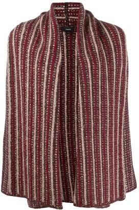 Theory oversized patterned cardigan