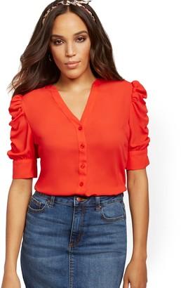 New York & Co. Puff-Sleeve Shirt