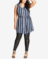 City Chic Trendy Plus Size Tunic Shirt