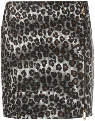 Versace Animalier houndstooth mini skirt
