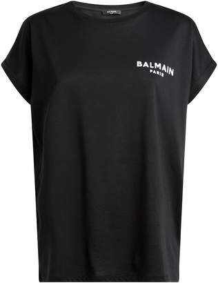 Balmain Flocked Logo T-Shirt