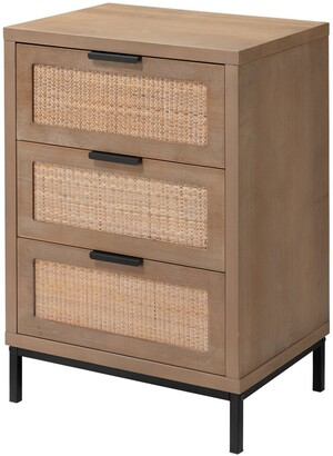 Jamie Young Reed 3 Drawer Side Table