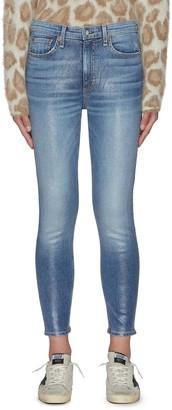 Rag & Bone/JEAN 'Nina' High Rise Crop Denim Skinny Jeans