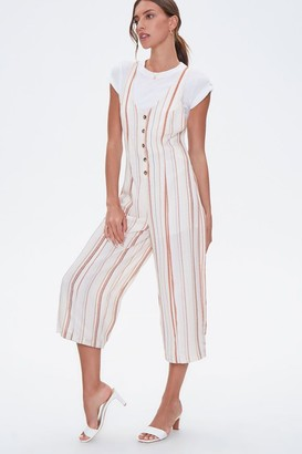 Forever 21 Striped Culotte Jumpsuit