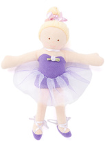 """Purple 9"""" Fancy Prancy Ballerina Plush"""