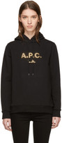 A.P.C. Black and Gold Logo Hoodie