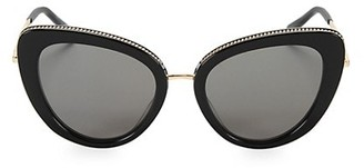 Stella McCartney 50MM Chain-Embellished Separated Cat Eye Sunglasses