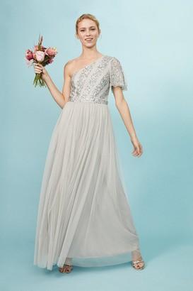 Coast Embellished One Shoulder Maxi Dress