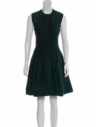 Alaia Fit & Flare Dress green
