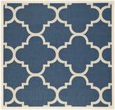 Safavieh Courtyard Collection CY6243-268 Navy and Beige Indoor/Outdoor Square Area Rug, 5 Feet 3-Inch Square